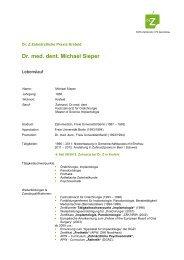 Dr. med. dent. Michael Sieper - Dr.Z