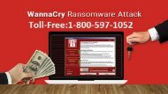 1-800-597-1052 How to Protect Your System From the WannaCry Ransomware Attack
