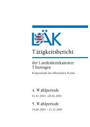 Tätigkeitsbericht - Landesärztekammer Thüringen