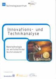 Nanotechnologie als wirtschaftlicher Wachstumsmarkt - nanoTruck ...