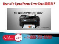 1-800-213-8289 Fix Epson Printer Error Code 000031