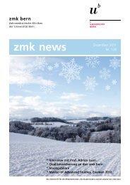 zmk news - zahnmedizinische kliniken zmk bern - Universität Bern
