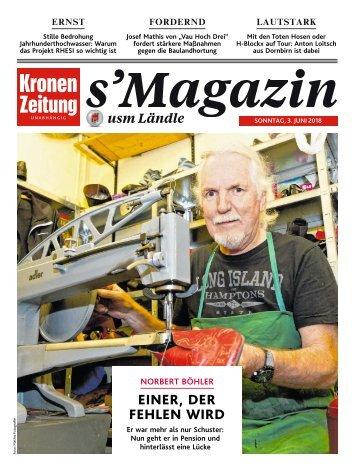 s'Magazin usm Ländle, 03. Juni 2018