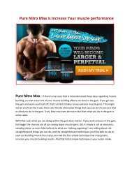 Increase Your intense workout power with Pure Nitro Max