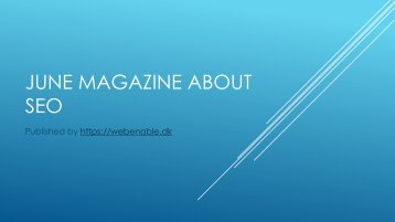 June magazine about SEO - Webenable
