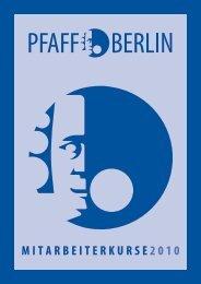 MITARBEITERKURSE 2010 - Philipp-Pfaff-Institut der ZÄK Berlin ...