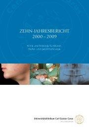 zehn-Jahresbericht 2000 - Universitätsklinikum Carl Gustav Carus