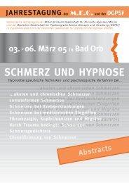 06. März 05 in Bad Orb SCHMERZ UND HYPNOSE - MEG ...