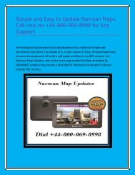 Simple and Easy to Update Navman Maps Dial +44-800-069-8998
