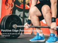 Exclusive Personal Training Service in Collingwood by Positive Edge