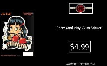 Betty Cool Vinyl Auto Sticker