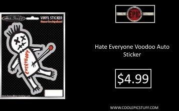 Hate Everyone Voodoo Auto Sticker