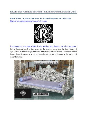 Royal Silver Furniture Bedroom Set Rameshwaram Arts and Crafts