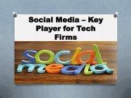 Social Media Key Player for Tech Firms