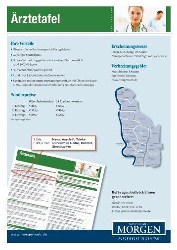 Ärztetafel Faxantwort - Morgenweb