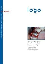 Minimalinvasive Therapiekonzepte in der oralen Implantologie unter ...