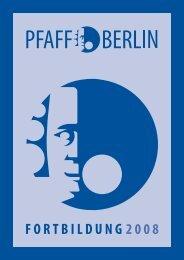FORTBILDUNG 2008 - Philipp-Pfaff-Institut