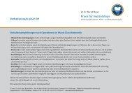 Verhalten nach einer Operation - Dr. Dr. Bernd Meier | Offenburg