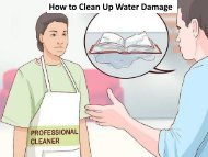 How to Clean Up Water Damage
