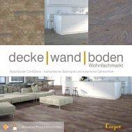 dwb Produktinformation Corpet CorkStone Sortiment