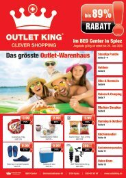 Outlet King Flyer Mai 2018
