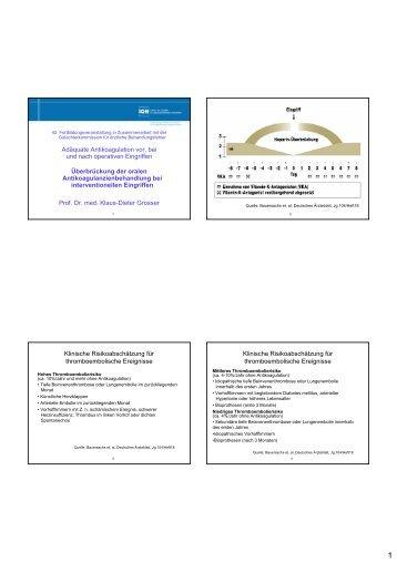 Überbrückung der oralen Antikoagulanzienbehandlung bei ...