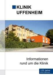 KLINIK UFFENHEIM - Kliniken des Landkreises Neustadt a.d. Aisch