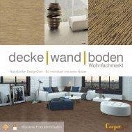dwb Produktinformation Corpet DesignCork Sortiment