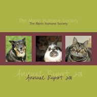 Download the 2011 Annual Report - Marin Humane Society