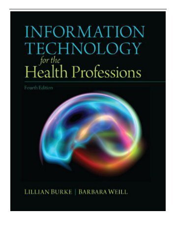 [PDF] Download Information Technology for the Health Professions Full Online