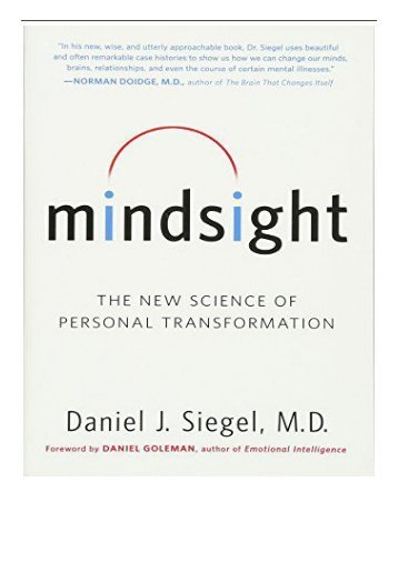 Mindsight The New Science Of Personal Transformation Epub Download