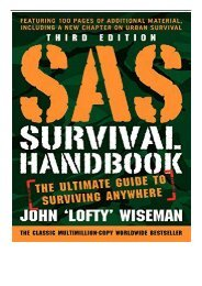 [PDF] Download SAS Survival Handbook Third Edition The Ultimate Guide to Surviving Anywhere Full ePub
