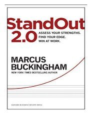 [PDF] Download StandOut 2.0 Assess Your Strengths Find Your Edge Win at Work Full ePub