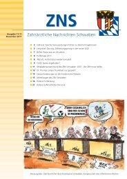 Zahnärztliche Nachrichten Schwaben 11/2011 - Zahnärztlicher ...