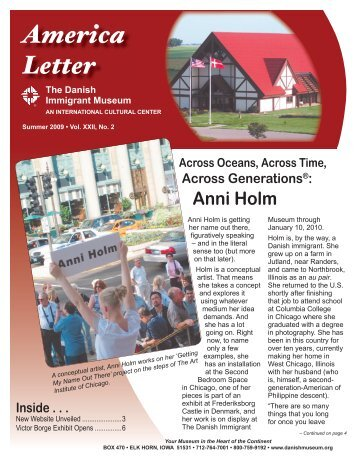 America Letter - The Danish Immigrant Museum