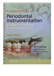 [PDF] Fundamentals of Periodontal Instrumentation and Advanced Root Instrumentation Full Books