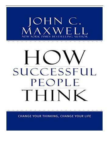 [PDF] How Successful People Think Change Your Thinking Change Your Life Full pages
