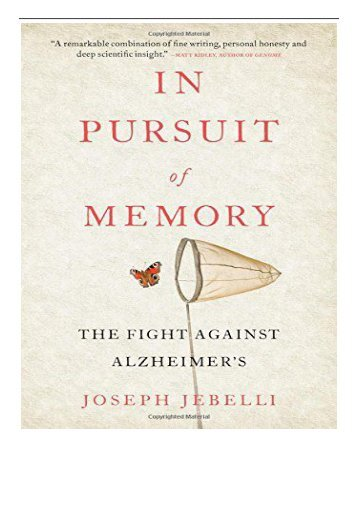 [PDF] In Pursuit of Memory The Fight Against Alzheimer's Full Books