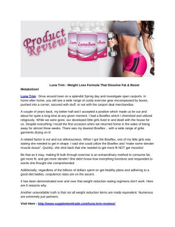 Luna Trim : Read Review, Benefits, Working & Ingredients Before Buy!