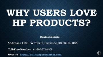 Why Users Love HP Products?