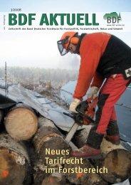 BDF-Aktuell - Bund Deutscher Forstleute (BDF)
