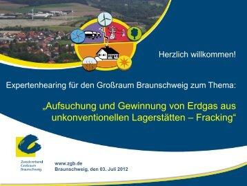 FRACKING - Zweckverband Grossraum Braunschweig