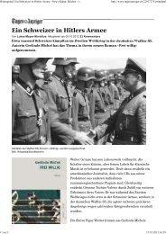 Hintergrund: Ein Schweizer in Hitlers Armee - News Kultur ... - Edition8