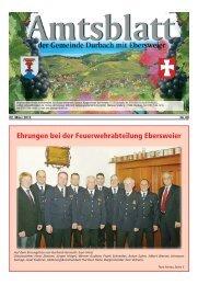 Ehrungen bei der Feuerwehrabteilung Ebersweier - Durbach