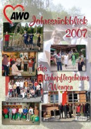 Jahresrueckblick Wengen website - AWO Kreisverband Roth ...