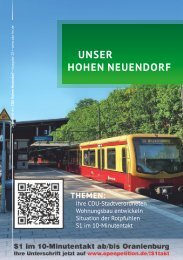 Unser Hohen Neuendorf 28 (Mai 2018)