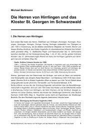 Die Herren von Hirrlingen und das Kloster St. Georgen im ...