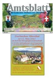 Brunnenfest in Ebersweier 16.und 17.Mai 2012 - Durbach