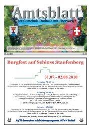 Burgfest auf Schloss Staufenberg 31.07. - Durbach