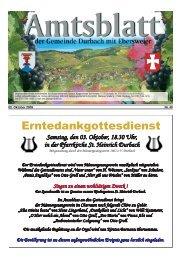 Tourist-Information/Verkehrsverein Durbach in der Zeit vom 02 ...
